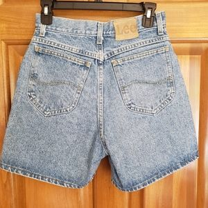 VINTAGE Lee high rise MOM shorts jeans denim 8